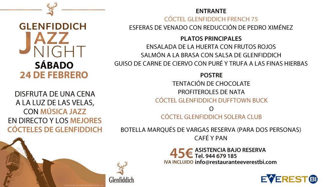 MENÚ ESPECIAL PARA LA GLENFIDDICH JAZZ NIGHT DEL 24 DE FEBRERO